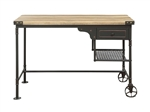Itzel Executive Home Office Desk in Antique Oak & Sandy Gray Finish by Acme - 92215