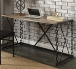 Jodie Executive Home Office Desk in Rustic Oak & Antique Black Finish by Acme - 92248
