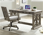 Artesia Executive Home Office Desk in Salvaged Natural Finish by Acme - 92318