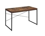 Bob Executive Home Office Desk in Weathered Oak & Black Finish by Acme - 92396