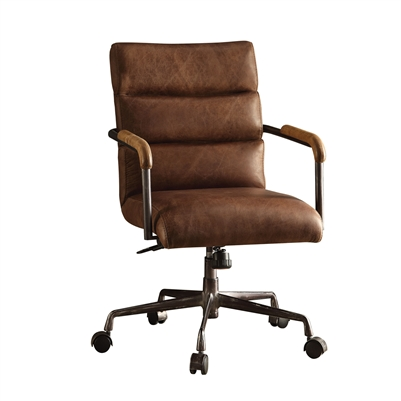 Harith Executive Office Chair in Retro Brown Top Grain Leather Finish by Acme - 92414