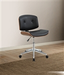 Camila Office Chair in Black PU & Walnut Finish by Acme - 92418