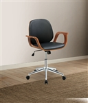 Camila Office Chair in Black PU & Walnut Finish by Acme - 92419