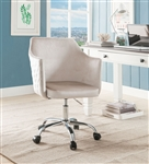 Cosgair Office Chair in Champagne Velvet & Chrome Finish by Acme - 92506