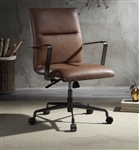 Indra Office Chair in Vintage Chocolate Top Grain Leather Finish by Acme - 92568