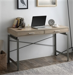 Yaseen Executive Home Office Desk in Natural & Nickel Finish by Acme - 92575