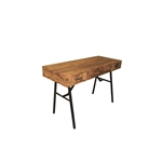 Jalia Executive Home Office Desk in Rustic Oak & Black Finish by Acme - 92645