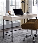Wendral Executive Home Office Desk in Natural & Black Finish by Acme - 92670