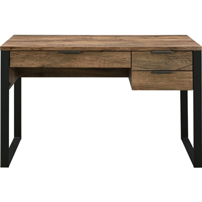 Aflo Executive Home Office Desk in Weathered Oak & Black Finish by Acme - 92725