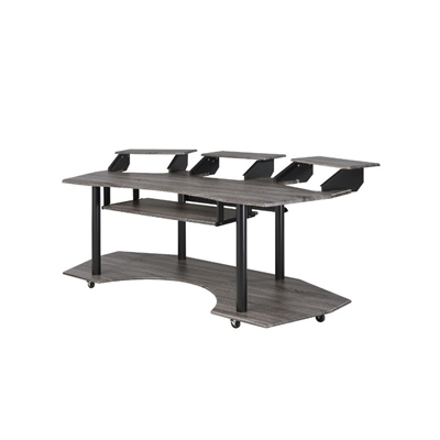"Eleazar 83"" Computer Desk in Black Oak Finish by Acme - 92895"