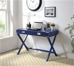 Amenia Executive Home Office Desk in Navy Blue Finish by Acme - 93008