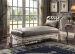 Dresden Chaise in PU & Vintage Bone White Finish by Acme - 96275