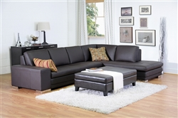 Baxton Studios Callidora Dark Brown Sectional Sofa by Wholesale Interiors - BAX-766