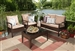 Empire Modern and Contemporary 4-piece Brown Wicker Outdoor Patio Set by Baxton Studio - BAX-PAS-1516