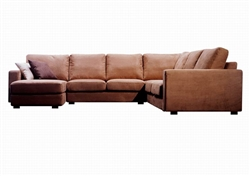 Brown Modern Microfiber Sectional Sofa by Baxton Studio - BAX-TD6309-D