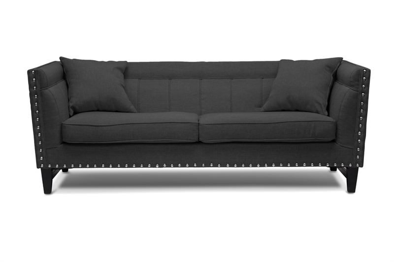 Wondrous Stapleton Gray Linen Modern Sofa And Chair Set By Baxton Studio Bax Tsf 71023 Gray Spiritservingveterans Wood Chair Design Ideas Spiritservingveteransorg