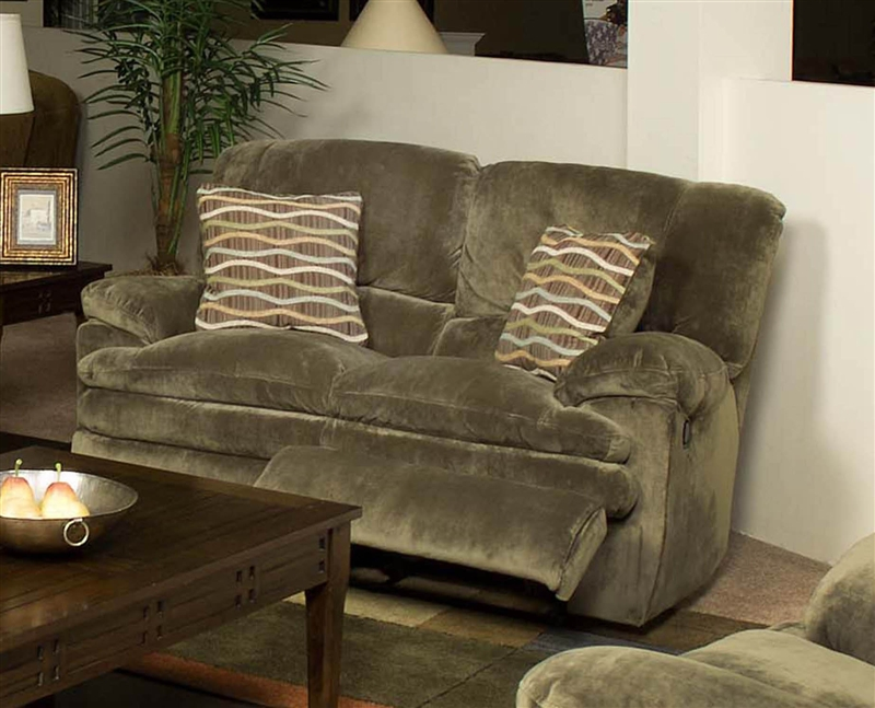 Easton 2 Piece Reclining Sofa Loveseat Set In Sage Fabric By Catner 123