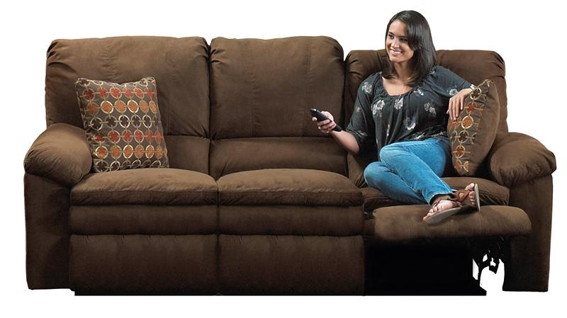 sc 1 st  Home Cinema Center & Impulse Reclining Sofa in Chocolate Color Fabric by Catnapper - 1241-G islam-shia.org