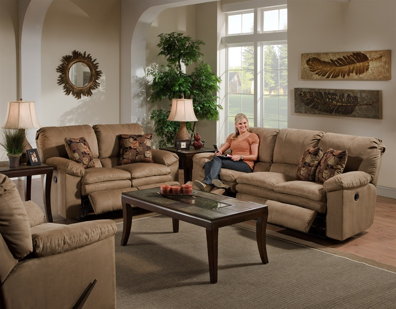 Delicieux Impulse 2 Piece Reclining Sofa Set In Cafe Color Fabric By Catnapper   1241  SET