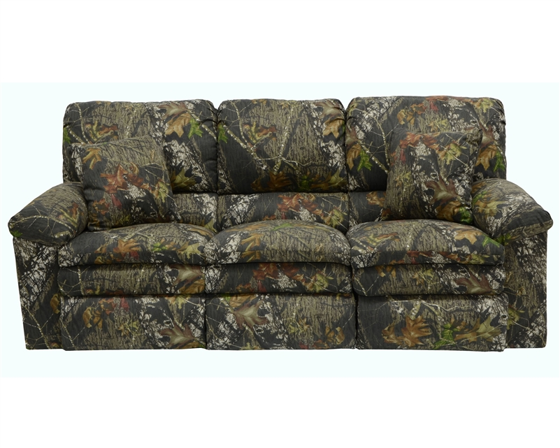 Trapper Reclining Sofa In Mossy Oak Or Realtree Camouflage