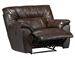 Larkin Lay Flat Recliner in Chestnut, Godiva, or Putty Leather by Catnapper - 1390-7