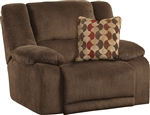 Hammond Wall Hugger Recliner in Mocha, Coffee, or Granite Fabric by Catnapper - 1440-4