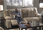 Hammond Reclining Sofa in Mocha, Coffee, or Granite Fabric by Catnapper - 1441