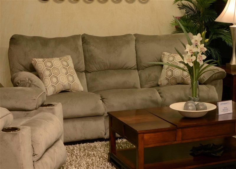 Gavin Reclining Sofa In Taupe Color Fabric By Catnapper 1451 T