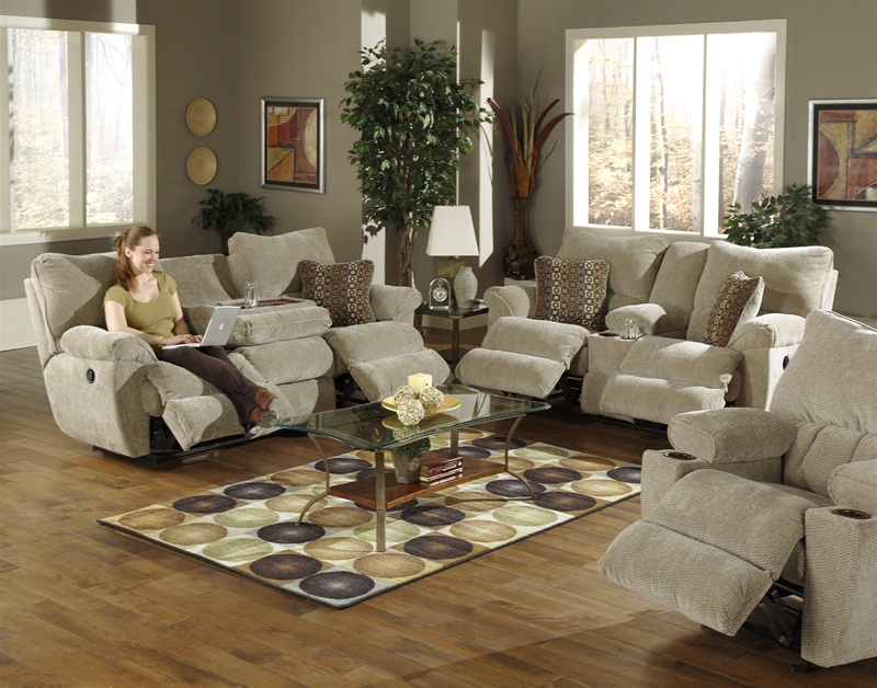 Madison 2 Pc Reclining Sofa Set In Sable Chenille By