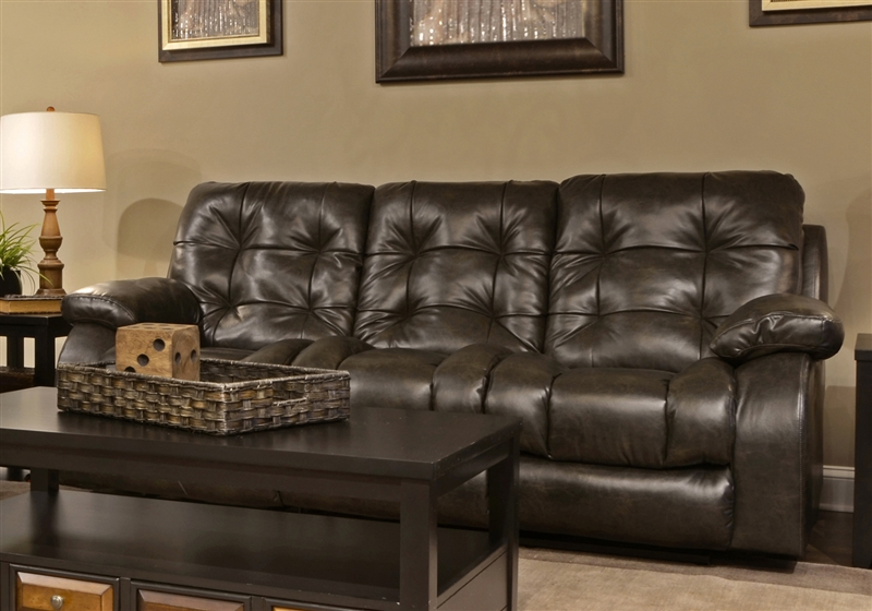 Watson Reclining Sofa in Coal, Almond, or Burgundy Fabric by ...