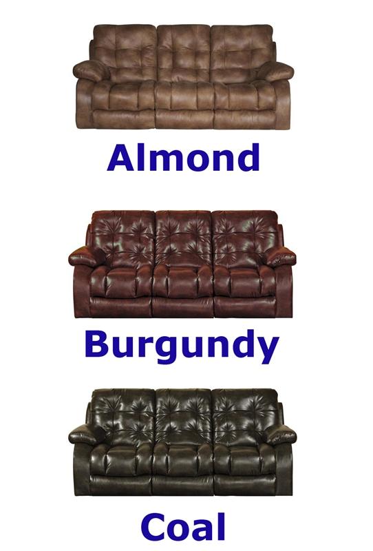 Remarkable Watson Reclining Console Loveseat In Coal Almond Or Burgundy Fabric By Catnapper 1529 Inzonedesignstudio Interior Chair Design Inzonedesignstudiocom