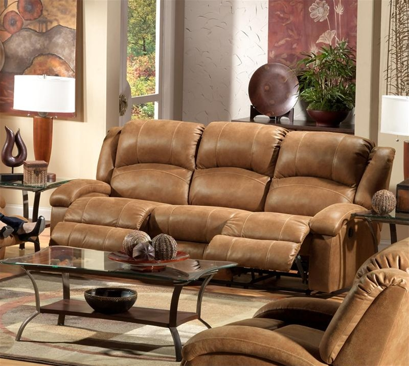 Superb Dawson Reclining Sofa In Saddle Fabric By Catnapper 1641 Dailytribune Chair Design For Home Dailytribuneorg