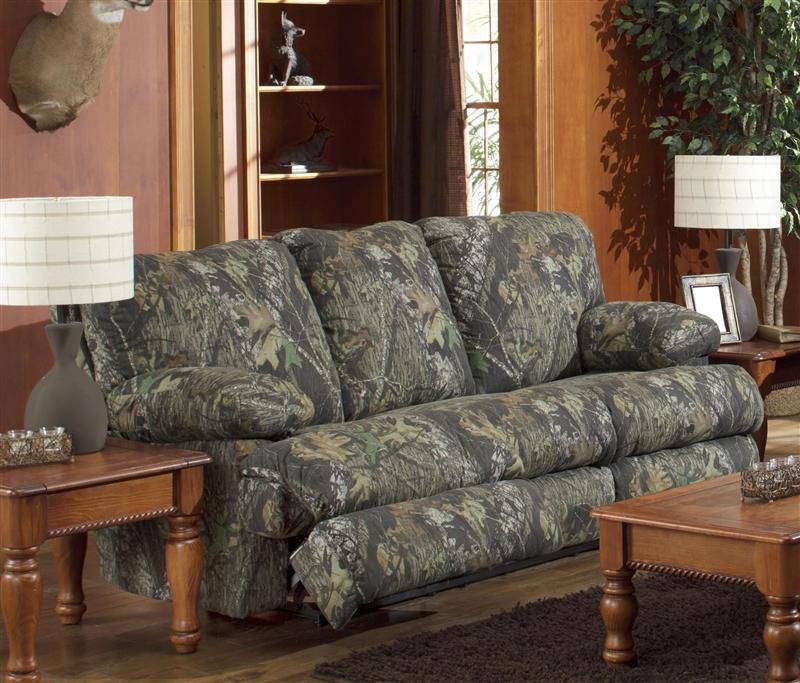 Wintergreen Queen Sleeper Sofa In Mossy Oak Camouflage Fabric By Catner 1706