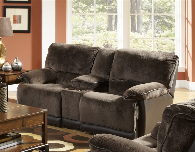 List Price $1018.80 & Escalade Reclining Console Loveseat in Chocolate/Walnut Two Tone ... islam-shia.org