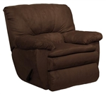 Falcon Chocolate Fabric Rocker Recliner by Catnapper - 1740-2