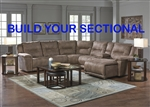 Montgomery Build Your Own Sectional in Cement Color Fabric by Catnapper - 175-BYO