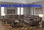 Montgomery Build Your Own Sectional in Timber Color Fabric by Catnapper - 175-BYO-T