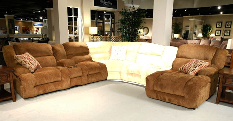 Peachy Enterprise 2 Piece Reclining Sectional In Camel Chenille Fabric By Catnapper 185 2 Pdpeps Interior Chair Design Pdpepsorg
