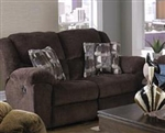 Transformer Rocking Reclining Loveseat in Chocolate Fabric by Catnapper - 1942-2-C