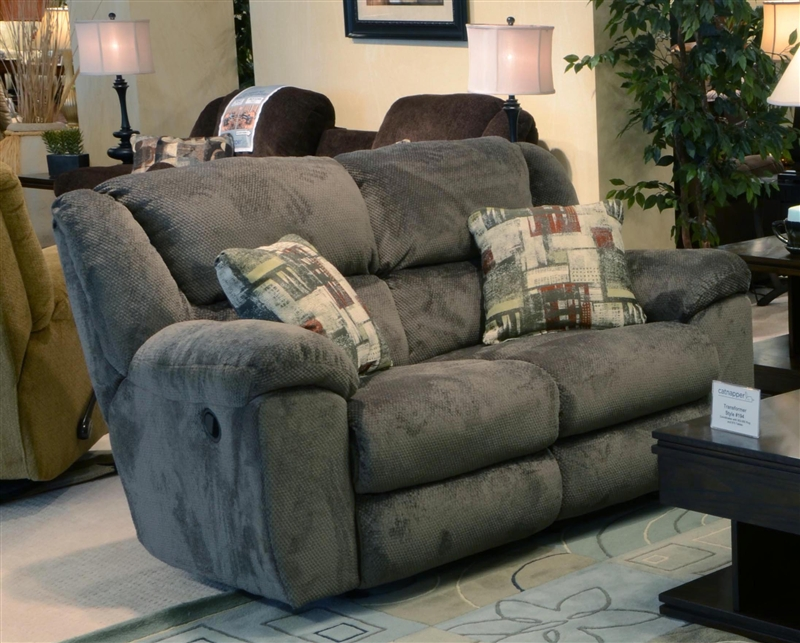 Transformer Rocking Reclining Loveseat In Seal Fabric By