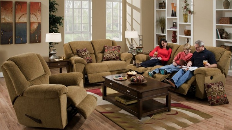 Beau Transformer 2 Piece Reclining Sofa Set In Beige Fabric By Catnapper    19445 2