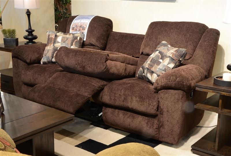 Transformer 2 Piece Reclining Sofa Set In Chocolate Fabric