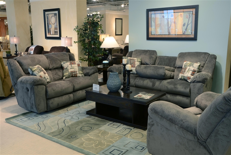 Ordinaire Transformer 2 Piece Reclining Sofa Set In Seal Fabric By Catnapper    19445 2 S