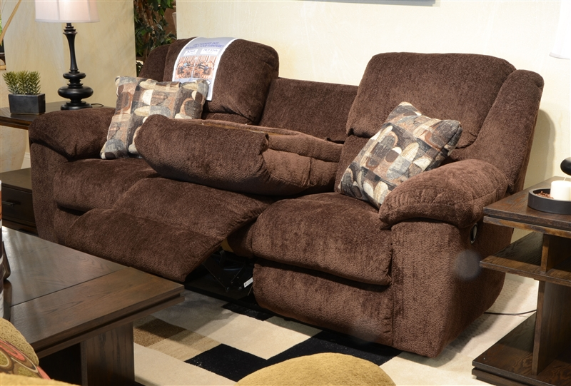 Merveilleux Transformer Ultimate Reclining Sofa In Chocolate Fabric By Catnapper    19445 C