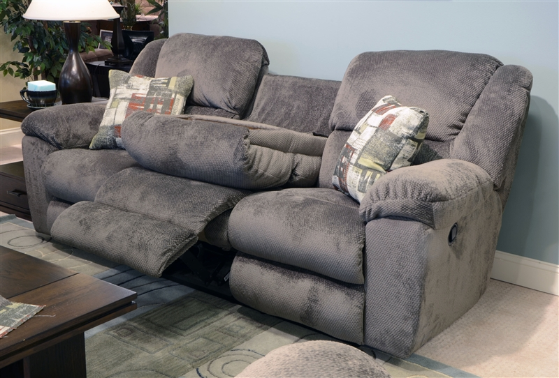 Transformer Ultimate Reclining Sofa In Seal Fabric By