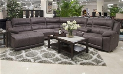 Braxton 6 Piece Lay Reclining Sectional in Charcoal Fabric by Catnapper - 215-06-CHR