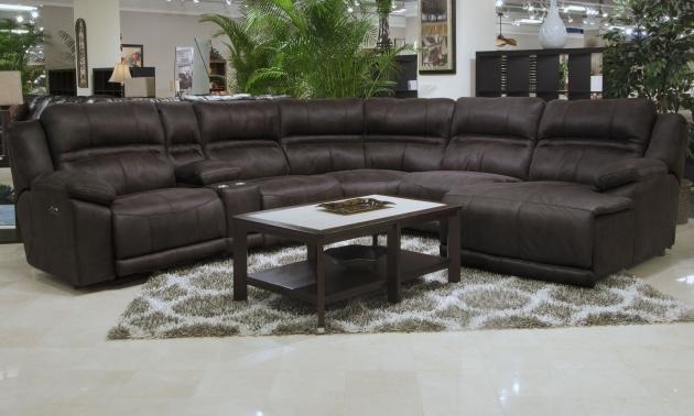 Braxton 6 Piece Lay Reclining Sectional In Dark Chocolate Fabric By  Catnapper   215 6 CH