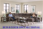 Braxton BUILD YOUR OWN Reclining Sectional in Charcoal Fabric by Catnapper - 215-BYO-CHR