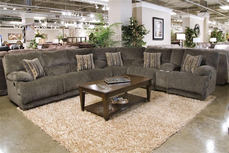 Jules 3 Piece Reclining Sectional in Tiger\'s Eye Chenille Fabric by ...