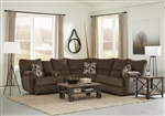 Elliott Lay Flat Reclining Sectional in Chocolate Chenille Fabric by Catnapper - 225-CH